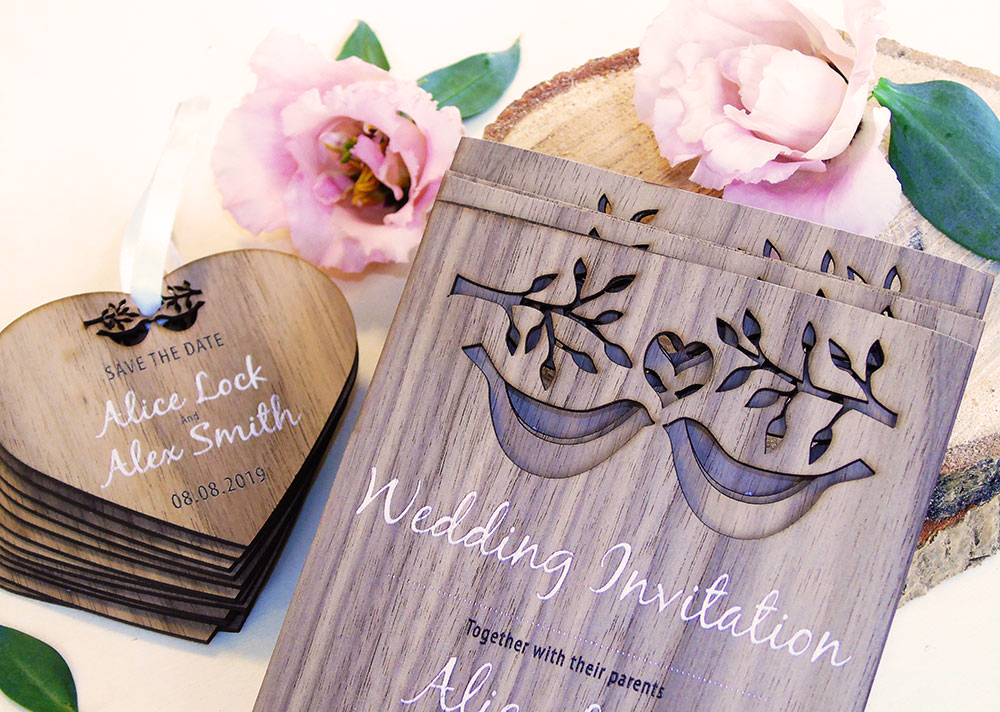 Lovebirds Invitation
