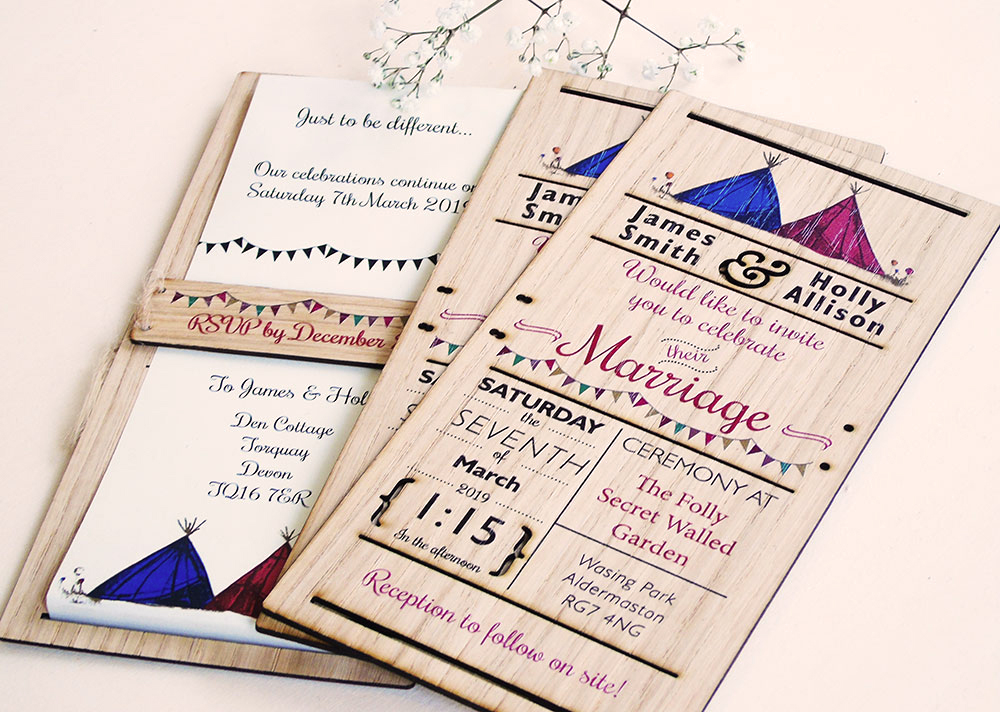 Marquee Themed Invitations