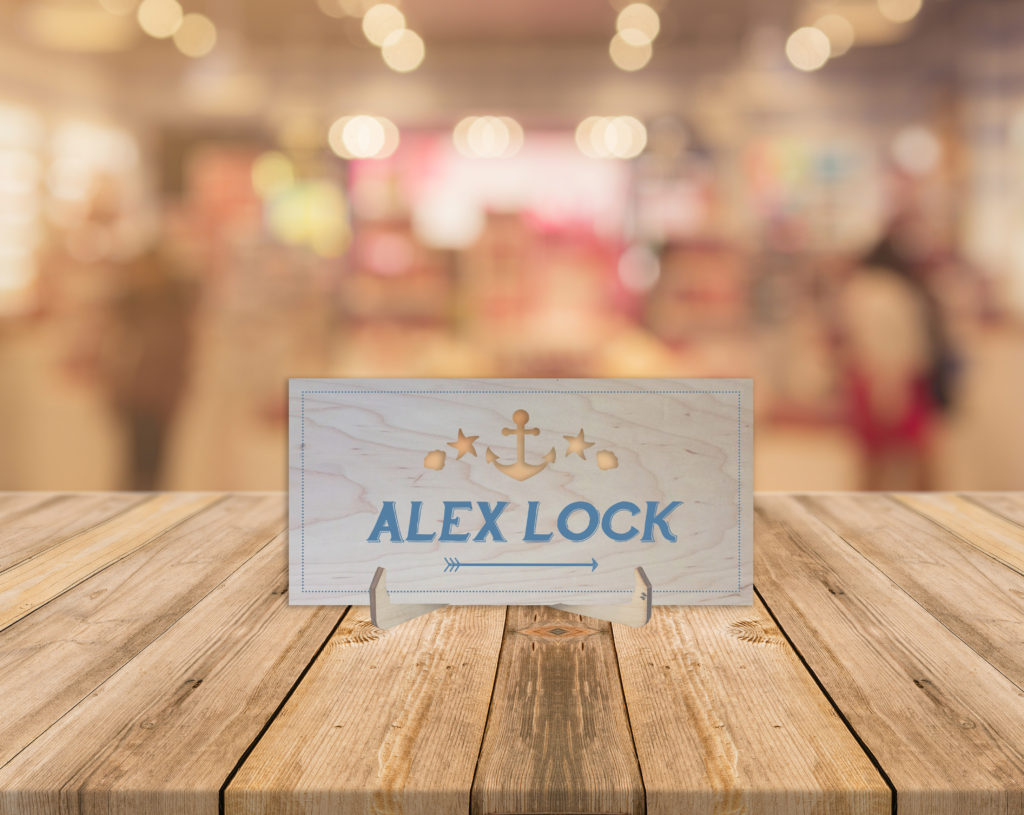 Nautical Theme Wooden Place Name Cards x 20