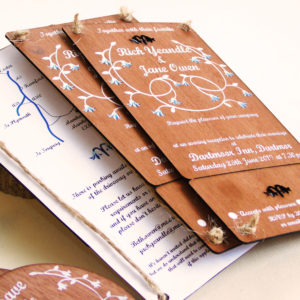Bluebell invitations with break-off for rsvp