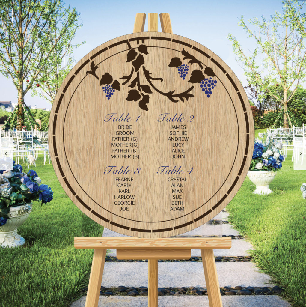 Round Theme Wedding Table Seating Plan