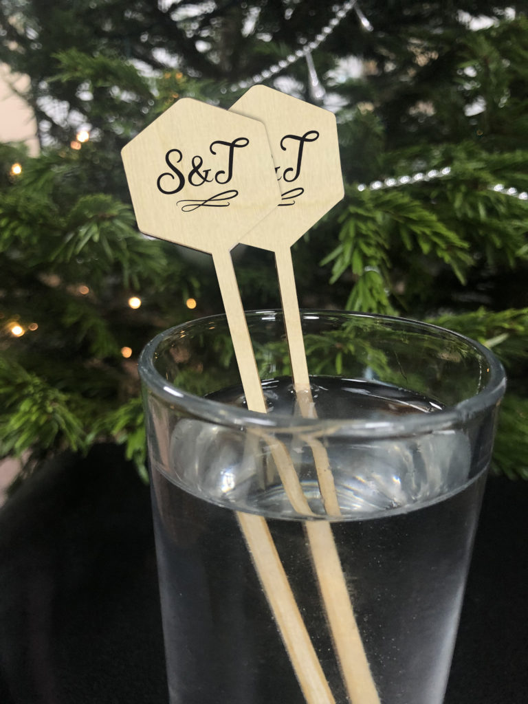 Personalised Wedding Cocktail Stirrers