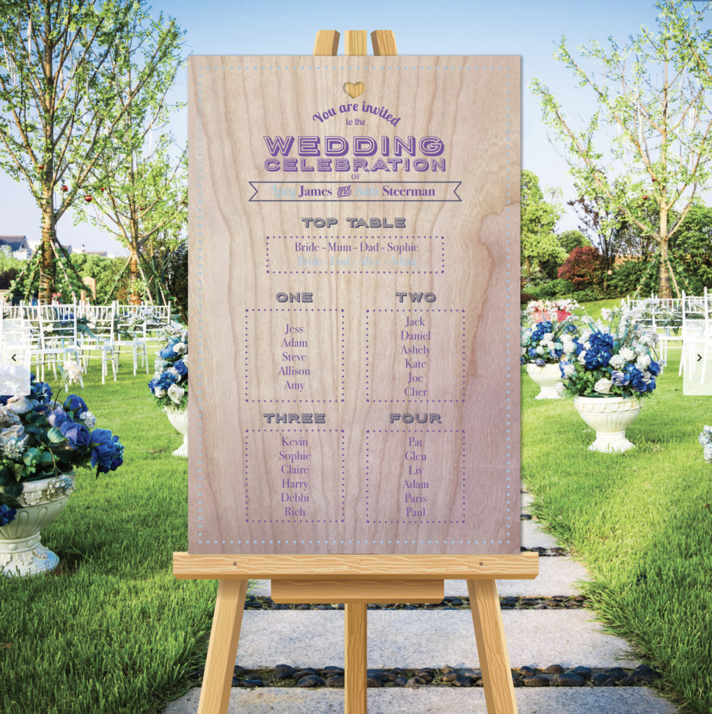 Ticket Theme Wedding Table Seating Plan