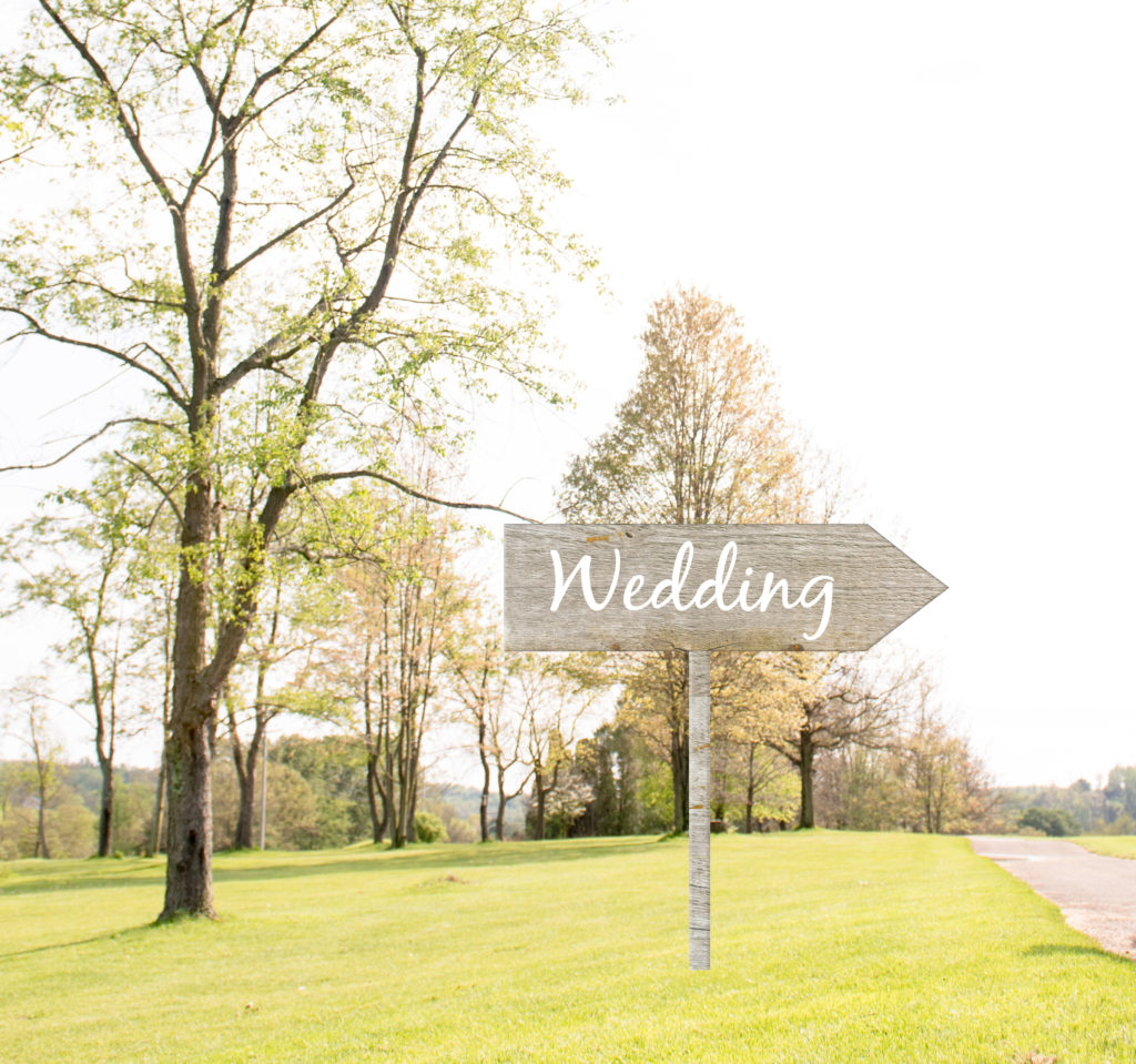 Large Wedding Arrow Sign (with stake)
