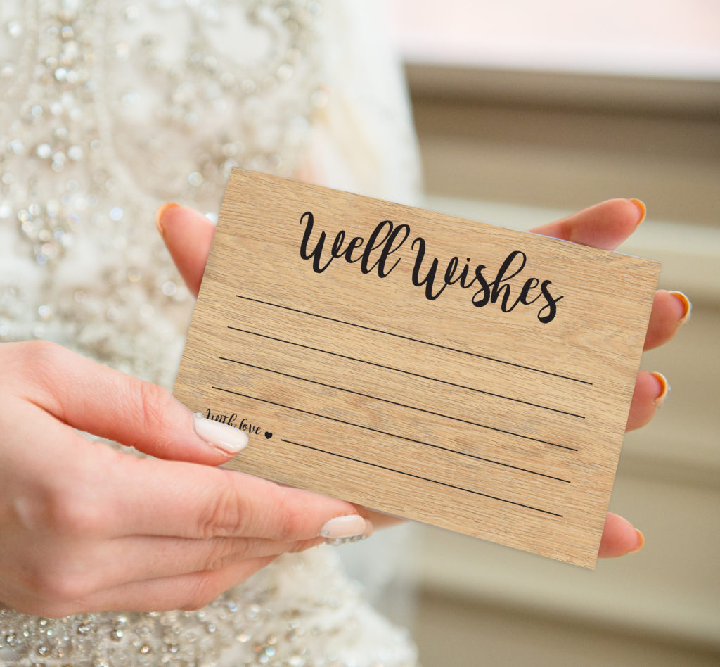 Wooden Well Wishes Postcard