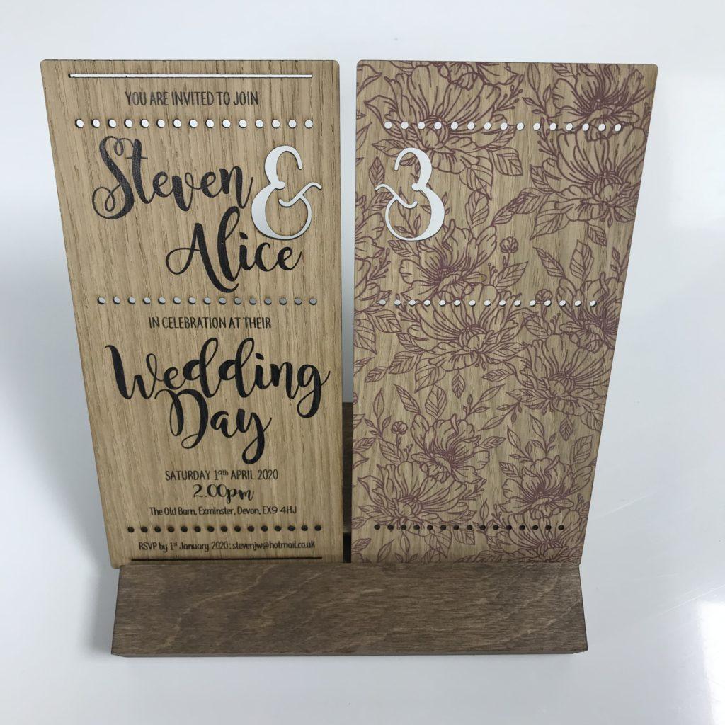 Calligraphy Style Wedding Invitation